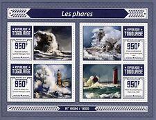 Togo 2015 MNH Lighthouses 4v M/S Whiteford Point Roker Pier Lighthouse Stamps