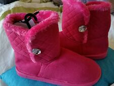 BNWT Rivers Pink Boots Flats/Ballet shoes size M/L or 39 / 8-8.5 fluffy soft