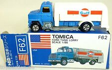 Gulf Ford Tank Lorry TOMICA No F62 TOMY 1:95 Made in Japan New in Box å