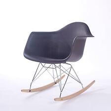 Eames Rocking Chair RAR Rocker Armchair Retro Modern Lounge Furniture in Black