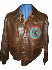 WWII USAAF 319th Fighter Sqdn (AW) Named A-2  Leather Jacket Painted Back Wings