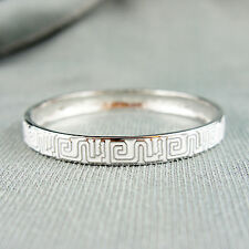 18k white Gold plated enamel bangle bracelet