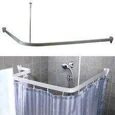 3 Metre Chrome Size Adjustable U L Shape Corner Shower Curtain Pole Rail Track
