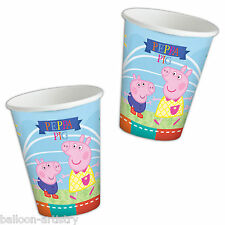 8 Peppa Pig Summer Fun Children's Birthday Party Disposable 266ml Paper Cups