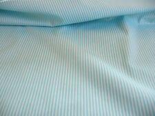 100 % Baumwolle Meterware Streifen Blau Weiß 3 mm 148 cm breit Kleiderstoff