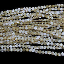 """8mm Natural Heart Shell Beads Loose Gemstone Beads for Jewelry Making Strand 15"""""""
