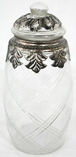 Vintage Look Glass And Metal Jar With Lid - Small CA116
