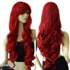 Gut Damen Rot Perücken Haarteile Kostüm Perücke Locken Gelockt Cosplay 80cm