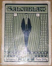 Salonblatt Jg. 5 Heft 4 Wochenschrift für Theater Kunst Sport Dresden 1910