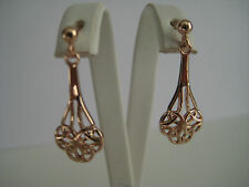 9ct rose gold celtic drop earrings NEW IN HOT ARRIVAL ON PROMOTION