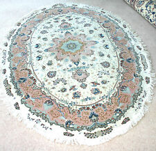 Persian tabrizz silk and wool handmade hand knotted rug 200 x 150 cm