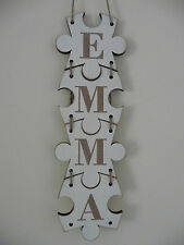 Personalised Family Sign Name Letters Word Puzzle Wooden Door Plaque Home Jigsaw