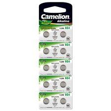 10x Knopfzelle AG4-LR66-LR626-377 Uhrenbatterie Alkaline von Camelion