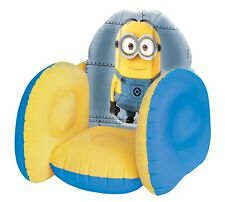 Despicable Me Minion Inflatable Kids Flocked Chair Bedroom Toy Room Furniture
