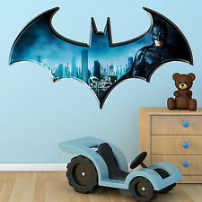 Batman Dark knight Logo Multi Colour Wall Art Sticker Superhero Bedroom Graphic