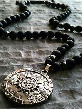 Halskette Anhänger Sternzeichen Onyx Hämatit Zeichen Schmuck herren damen