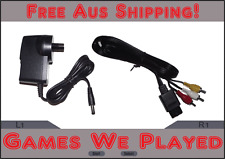 Super Nintendo SNES Power Supply and AV Cables Replacement New Aftermarket