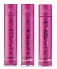 3x SILHOUETTE Color Brillance Super Hold Haarspray 300ml Schwarzkopf