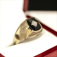 Vintage Onyx and Diamond ring, originally a 30's men's ring, now- Unisex size!