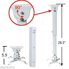 UNIVERSAL ADJUSTABLE PROJECTOR CEILING WALL MOUNT BRACKET HD ADAPTER INSTALL KIT