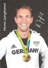 Autogramm AK Henri Henry Junghänel Kleinkaliber Olympiasieger 2016 handsigniert
