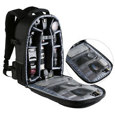 Large Capacity Camera Backpack Bag Case for Canon Nikon Sony DSLR w/ Rain Cover