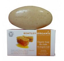 Bentley Organic Smoothing Moisturising Soap Bar with Honey Bran and Oatmeal 150g