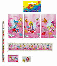 2 x 5 PIECE FAIRY STATIONERY SET, PARTY BAG FILLER, PTA, GIFT, KIDS,