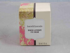 bareMinerals Escentuals RENEW & HYDRATE EYE CREAM Full Size New In Box 15ml/.5oz