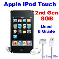 Genuine Apple iPod Touch 8GB 2nd Generation Black Used B Grade MP3 Player Gift