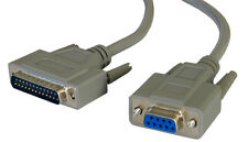 3m Female 9 Pin Serial RS232 To Male 25 Pin Parallel Cable Lead [002670]