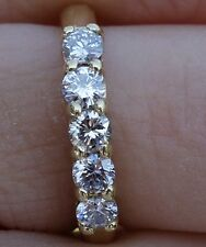 .60 J/VS-Si1 diamond 5 stone wedding anniversary band 18k Yellow gold.