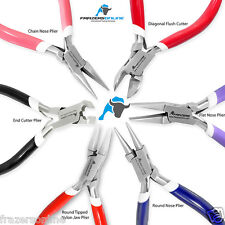 Set of 6 Chain, Round & Fat Nose, Nylon Jaw Pliers Jewellery Making Tools