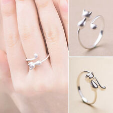 Cute Style Cat Shaped Alloy Open Wrap Ring
