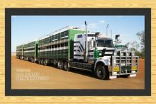 KENWORTH TRUCK  C508 TRIPLE ROAD TRAIN BAR RUNNER BAR MAT