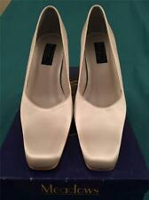 Wedding bridal shoes Ivory Satin Size 4 Amy by Meadows