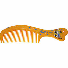 Orange Fine Tooth Small Pocket Handbag Hair Comb Toddlers Childrens Kids Girls