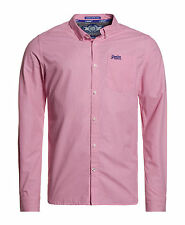 New Mens Superdry Unique Sample Long Sleeve London Button Down Shirt Pink Small