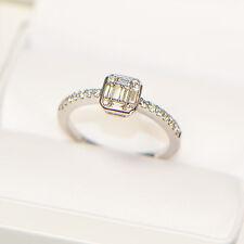 NEU Diamantring 0,39 ct in 750er Weissgold Ringgröße 54 Pavé Verlobung Verlobung