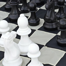 Premium 40cm (16 Inch) Giant Chess, Checkers, Mat and Bag Package