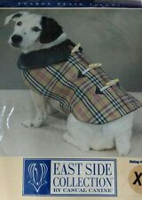 Casual Canine Luxury Dog Coat Check London Plaid Small Size