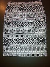 Black And White COLORADO Pencil Skirt Size 8