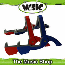 1 x CooperStand Red Duro Pro Folding Guitar Stand - Fits in Most Guitar Cases
