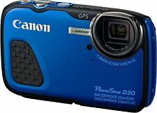 Canon PowerShot D30 Waterproof Camera HD 3 Inch 1080p 12MP 5x Optical Zoom Blue