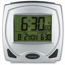Funkwecker mit Sprachansage Funkuhr Digitaluhr Tisch Wecker Uhr digital Kalender