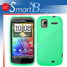 New Green Soft Gel TPU Cover Case For HTC Sensation XE + Screen Protector