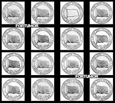 HISTORIC STATES of TURKS TURKEY 16 PCS COIN SET 1 k. 2015 2016 UNC COMMEMORATIVE