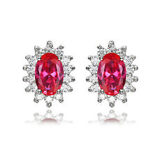 JewelryPalace  Geschenk 2.5ct Rot Rubin Ohrring Ohrstecker 925 Sterling Silber