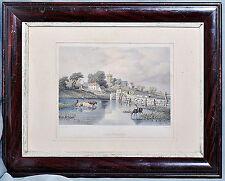 """englischer Stahlstich """"Scratchells Bay"""", W.H. Bartlett, original, koloriert"""