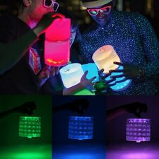 Solar Color Change Inflatable Lantern Lamp LED Camping Hiking Outdoor Tent Light